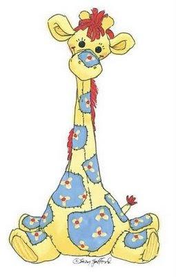 Desenho de girafa colorido