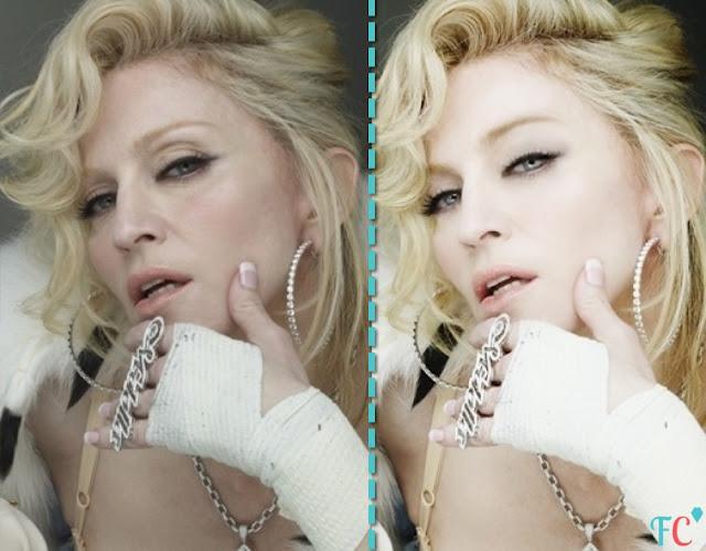 Madonna face beauty
