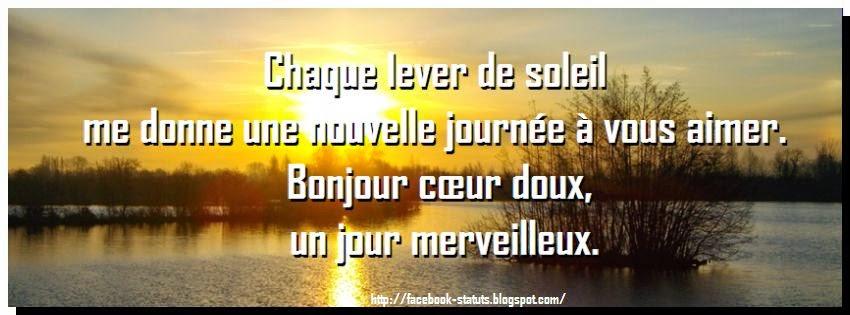 Statut  facebook bonjour