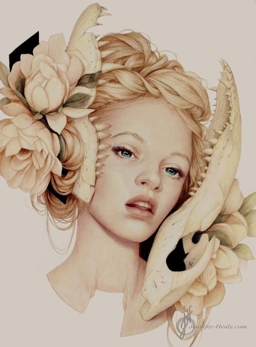 18-Bittersweet-Jennifer-Healy-Traditional-Art-Color-Pencil-Drawings-www-designstack-co