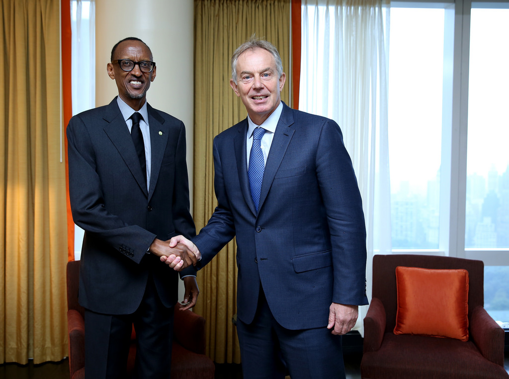 Kagame and Tony Blair