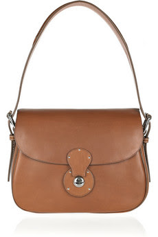 Luxe Tan Leather Shoulder Bag