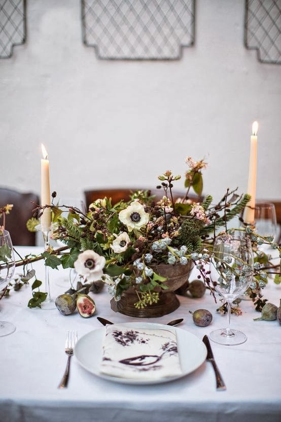 The wedding decorator wedding centrepiece trends for 2014 Christmas table dressing