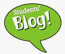 thinking bubble with the words student blog in it