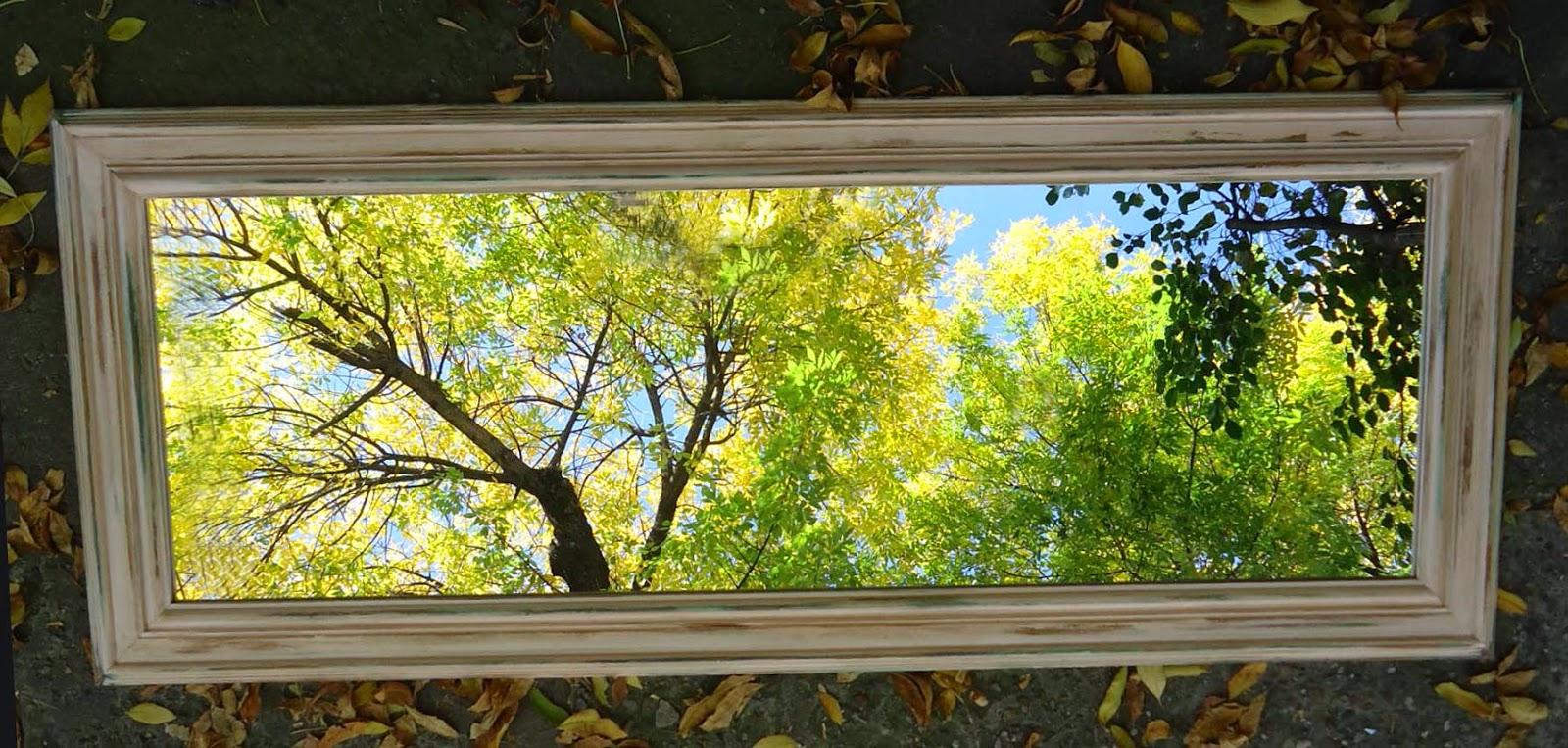 espejos ecomarcos: Espejo con marco de 10cm simil pinotea