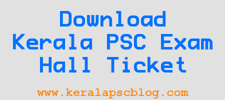Kerala PSC Work Assistant Exam 24-01-2015 Hall Ticket