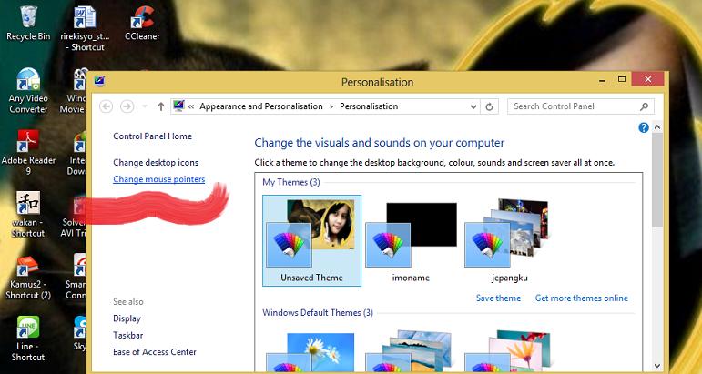 Cara Mudah Mengganti Kursor Mouse Windows 8