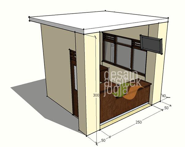 Konsep Desain Pos Satpam Minimalis karya Desain Arsitek Jogja