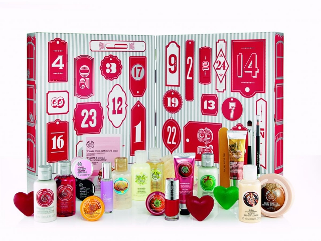 The Body Shop Advent calendar beauty 2014 content