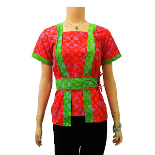 DBT 2440 Model Baju Blouse Batik Modern Terbaru 2013