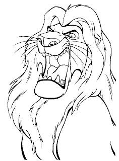 Dibujos Infantiles para Colorear y Pintar: El León.