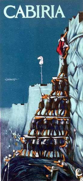Cartel original de la película Cabiria