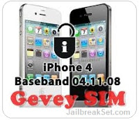 A new GEVEY Sim unlock for iPhone 4S 4 4.11.08