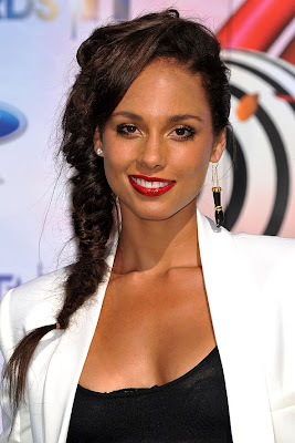 Alicia Keys Fishtall Braid Hairstyle