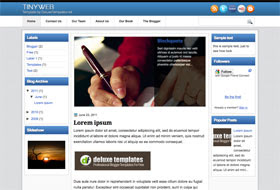 Tiny Web Blogger Template