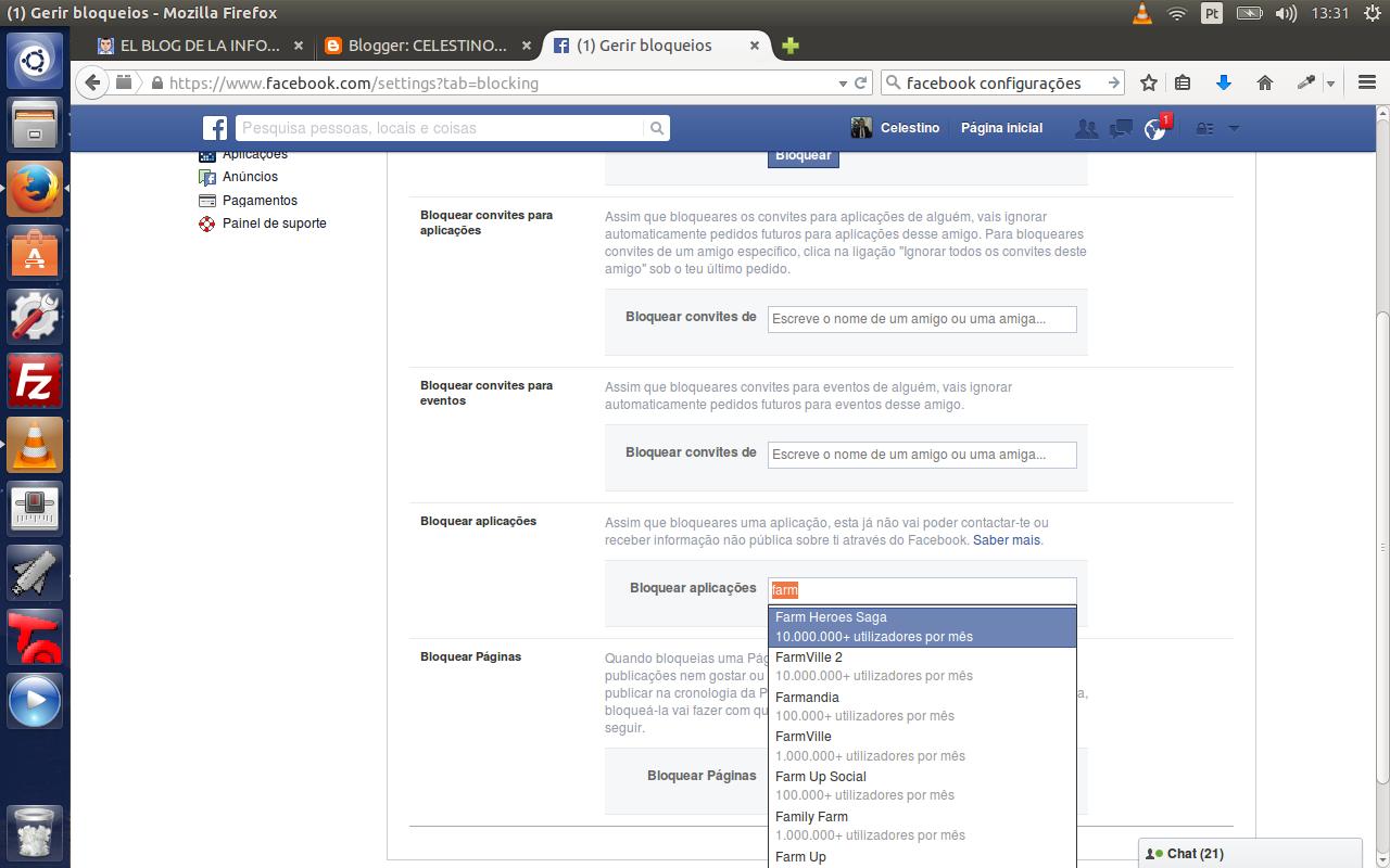 Screenshot de Bloquear aplicações no facebook