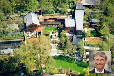 Phong thuy biet thu ty phu Bill Gates