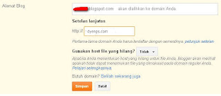 Cara Seting Domain NameCheap Ke Blogspot