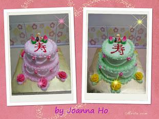 Cocktrail chiffon cake , Pandan chiffon cake - fresh cream