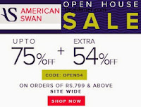 Americanswan Clothing, Footwear & Accessories @ upto 80% off + 54% off from Rs. 77 + Free Delivery