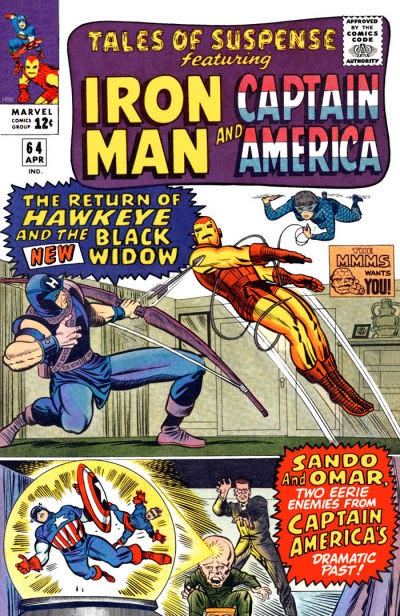 Tales of Suspense #64, Iron Man, the Black Widow and Hawkeye