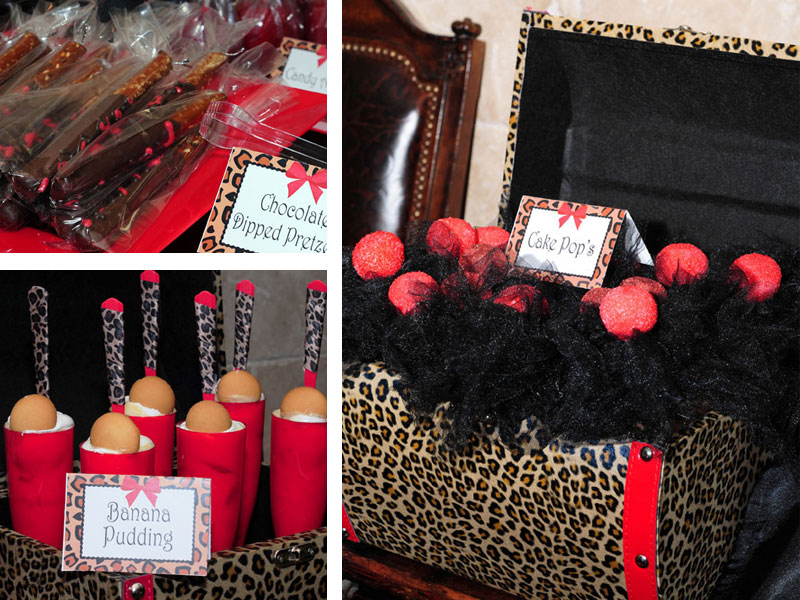 Sunny by design client party leopard print 16th birthday for Animal print decoration party