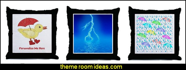 Rainy Day Bedroom rain bedding Bedding weather themed throw pillows