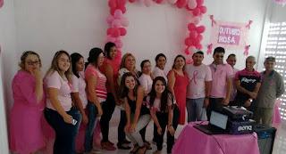 Outubro Rosa: Saúde de Baraúna realiza Palestra sobre Câncer de mama