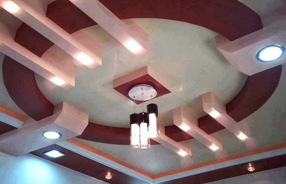 D coration de salon marocain faux plafonds en platre for Design plafond en platre