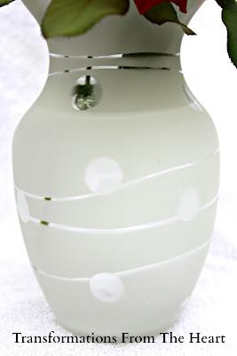Frosted Krylon Vase