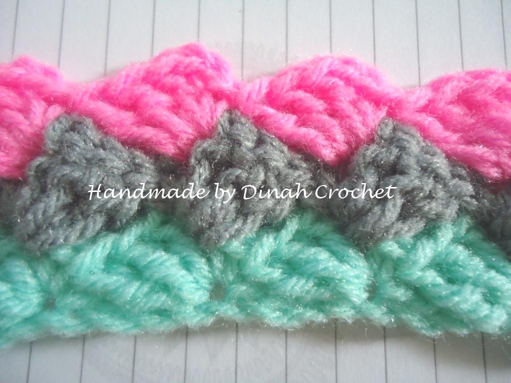 Dinah Crochet: Slanted shell stitch