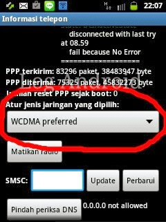 wcdma only stabilkan sinyal android