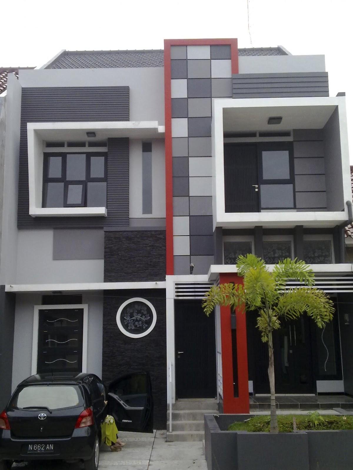 kombinasi warna cat rumah minimalis eksterior