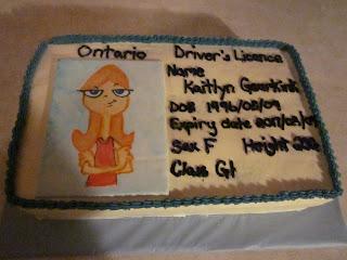 Second Generation Cake Design Driver S License 16th