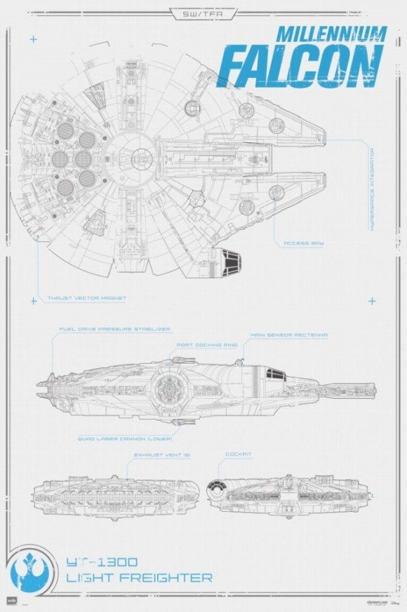 STAR WARS: THE FORCE AWAKENS Vehicle Schematics For the Millennium on batman schematics, tron schematics, wall-e schematics, terminator schematics, kamen rider schematics, robotech schematics, prometheus schematics, a wing fighter schematics, pneumatic schematics, macross schematics, stargate schematics, star destroyer, pacific rim schematics,