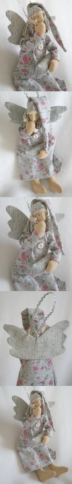 tilda angel, sleepy angel, sleeping angel, tone finnanger pattern, handmade