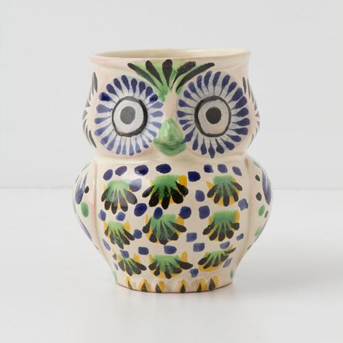 My Owl Barn Anthropologie Handpainted Folk Owl Mug