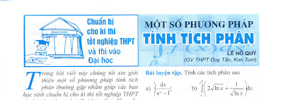 mot so phuong phap tinh tich phan ltdh