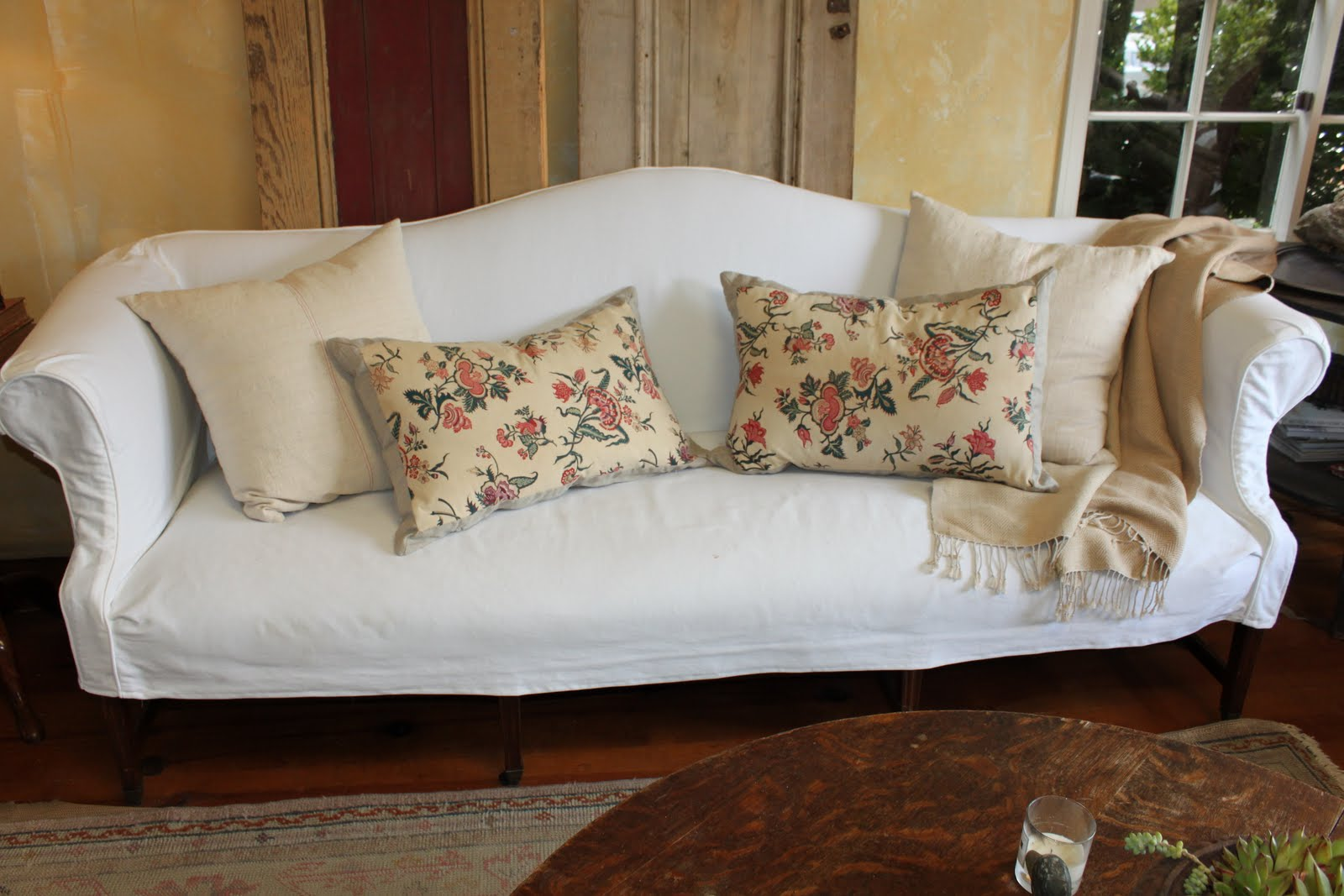 Blue springs home blog one sofa so many looks for Chintz couch
