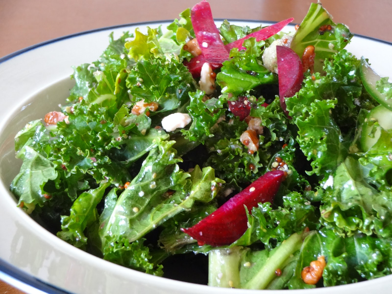 ... Market Fridays: Kale Salad with Cherries, Gorgonzola, and Pecans