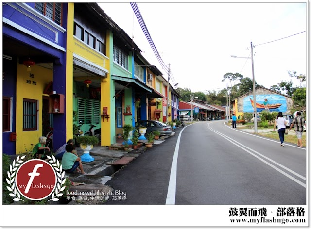 槟城游记 ►威南淡汶一日小旅 ►街道上的七彩屋与壁画