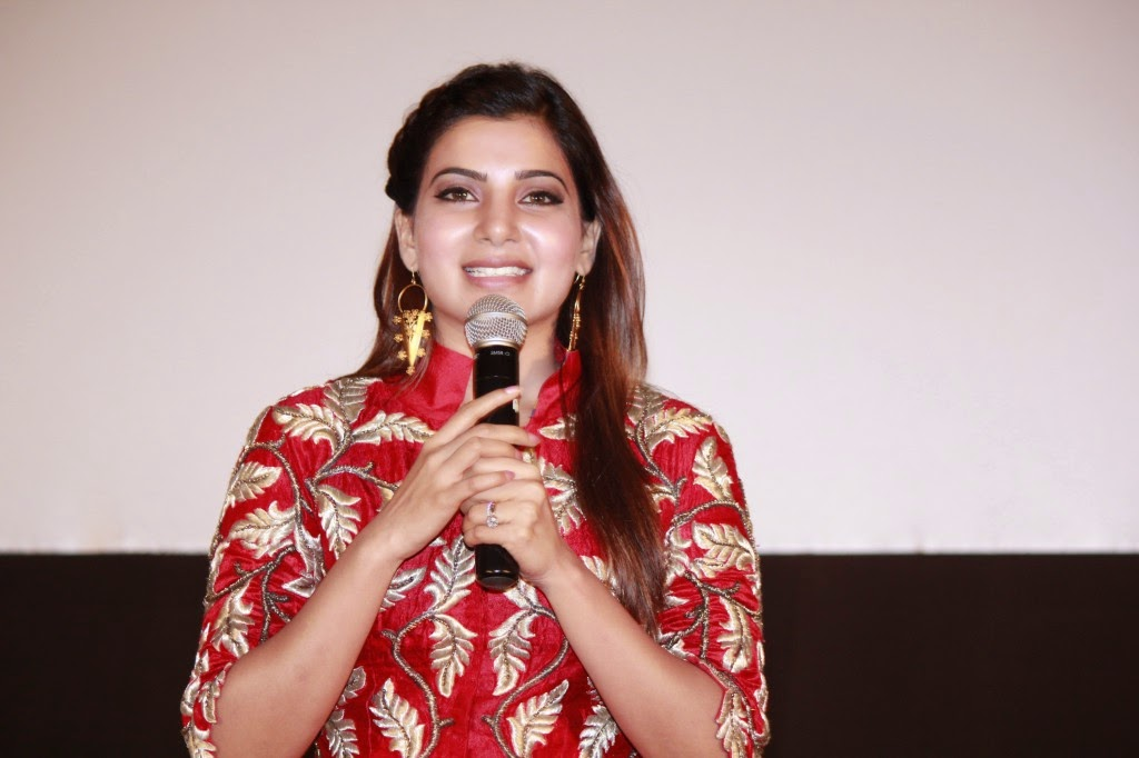 Samantha Latest Stills At Enakkul Oruvan audio launch