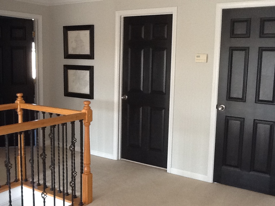 Moore designs project monday - Sophisticated black interior doors ...