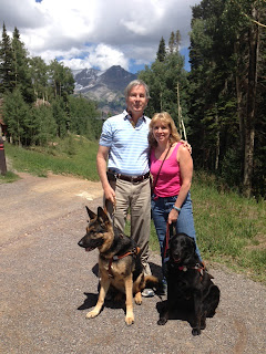 Mike and Gena with Colorado mountains in the background