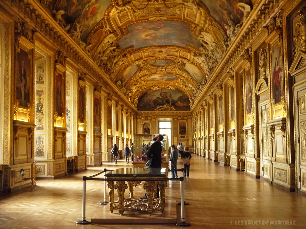 Les trucs de myrtille la galerie d 39 apollon mus e du louvre for Louvre interieur