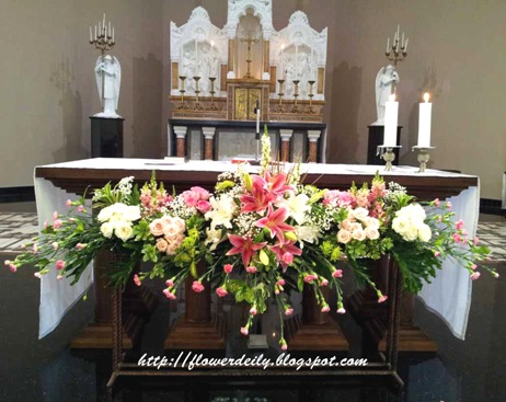 Pink-Fuschia Theme Wedding Church Décor (2) ~ flower daily blog