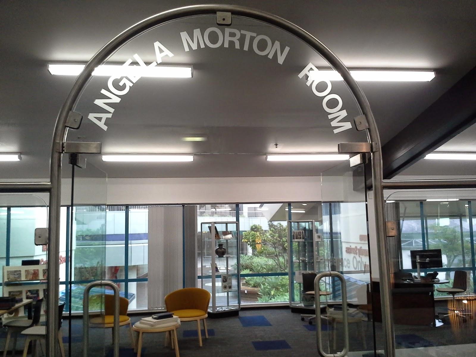 Ref: Andrew Henry, Angela Morton Room doorway, 17 December 2014.