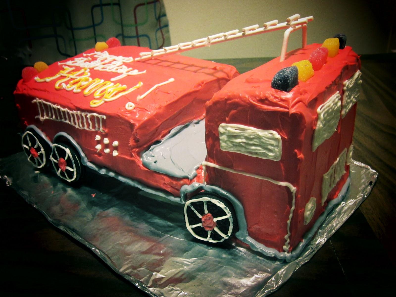 How To Make A Firetruck Cake Preschool Powol Packets