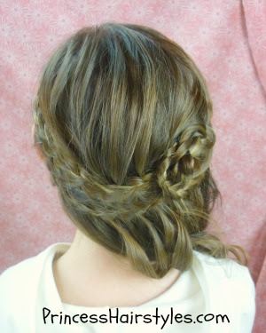 special occasions the curls and soft messy braids are very princessy