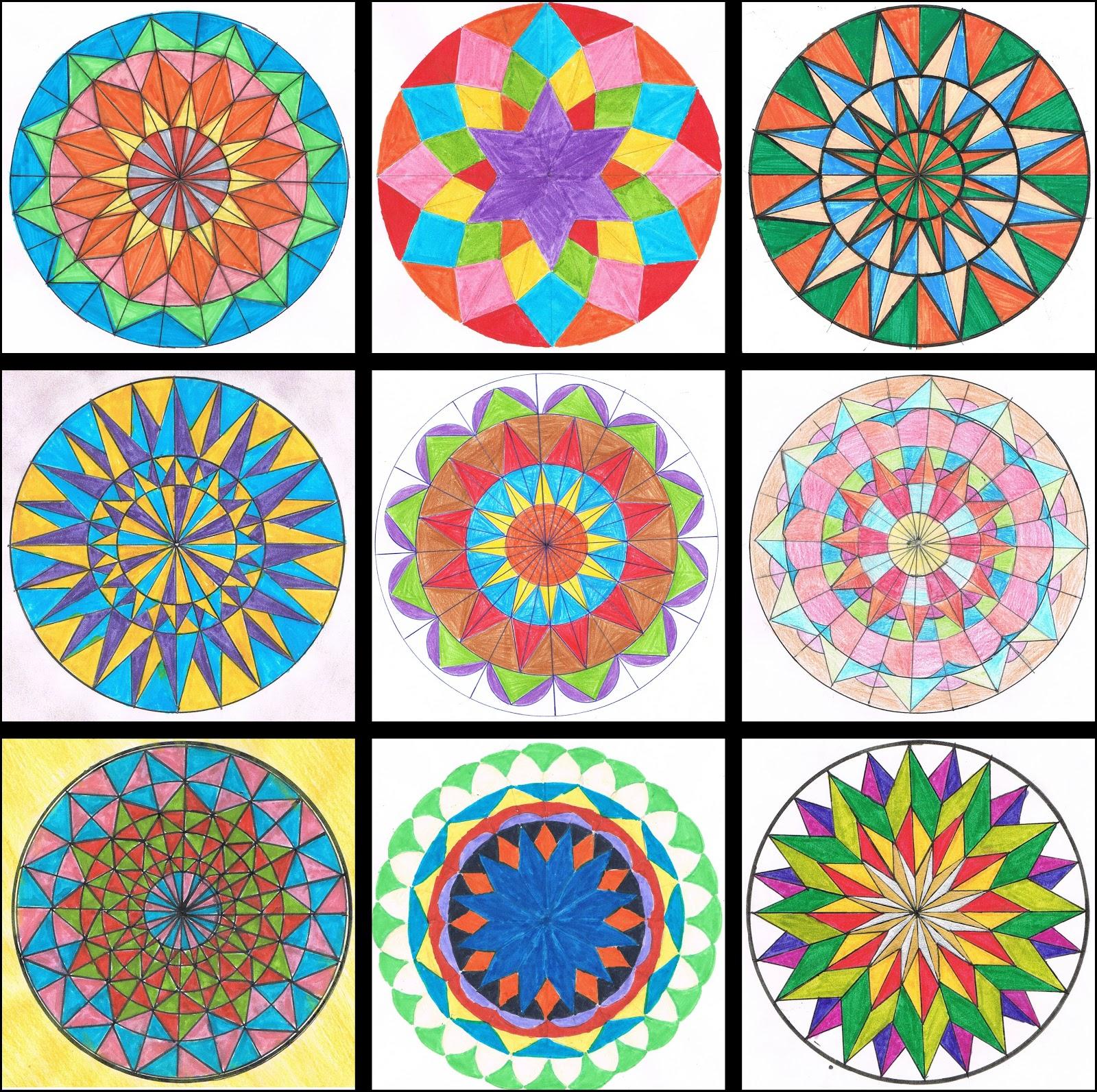 Pintar crear pensar pol gonos regulares - Como pintar mosaicos ...